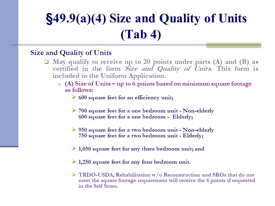 §49.9(a)(3) Income Level of Tenants of the Development (Tab 3 continued)