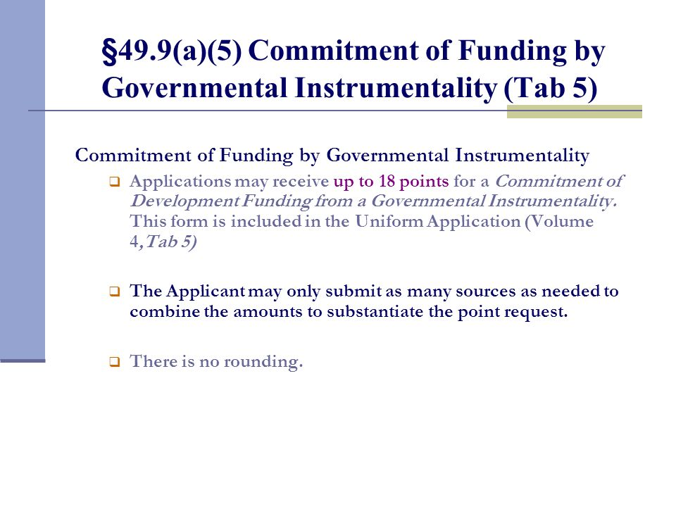 §49.9(a)(4) Size and Quality of Units (Tab 4 continued)