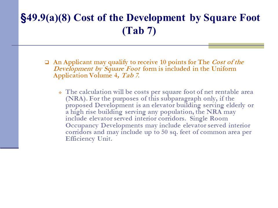 §49.9(a)(7) Rent Levels of the Units (Tab 6)