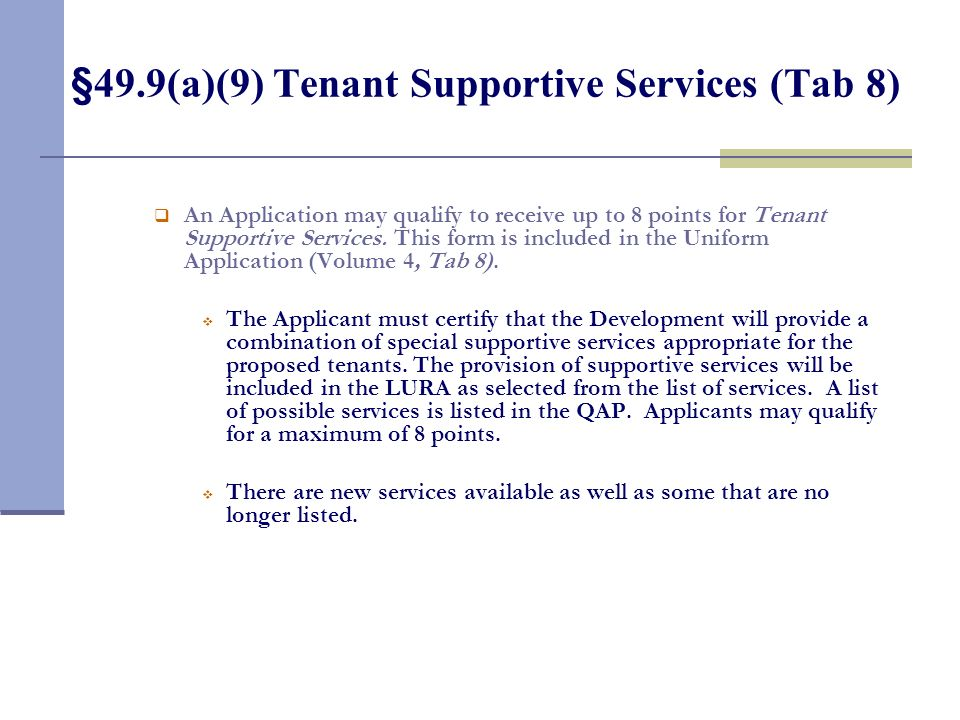 §49.9(a)(8) Cost of the Development by Square Foot (Tab 7)