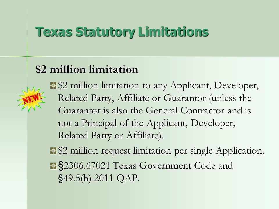 Texas Statutory Limitations