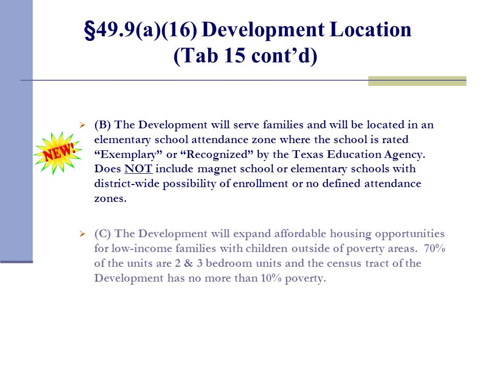 §49.9(a)(16) Development Location (Tab 15)