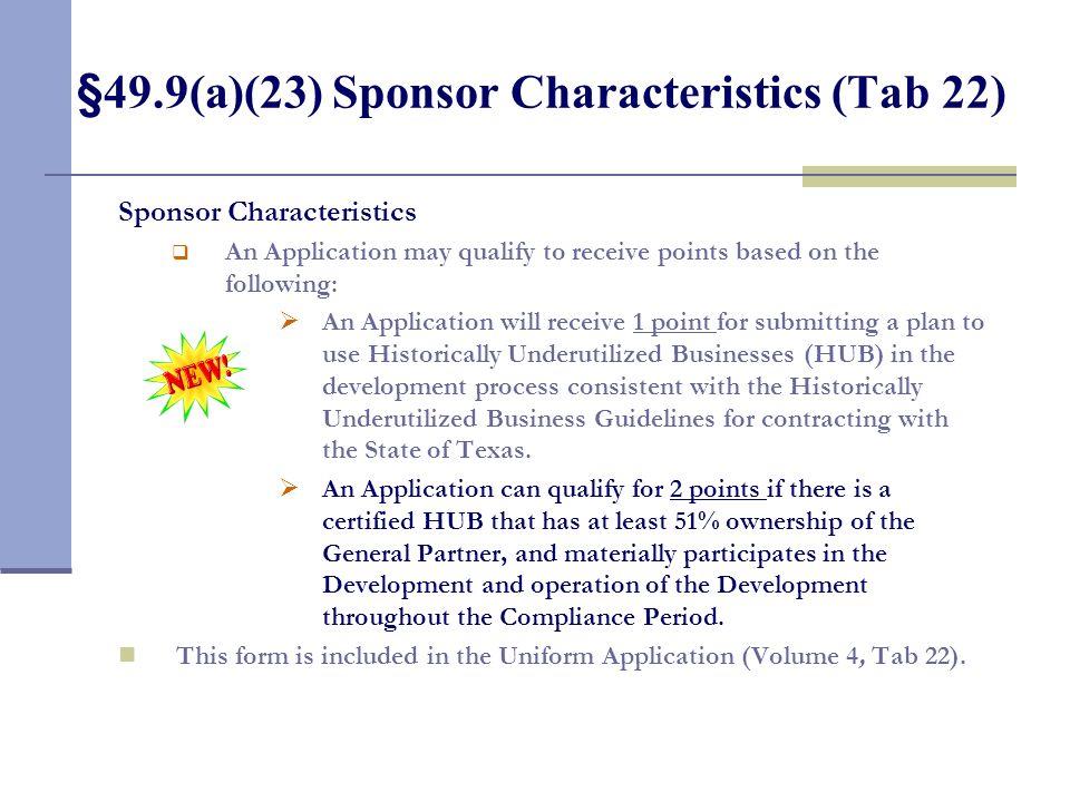 §49.9(a)(22) Development Size (Tab 21)