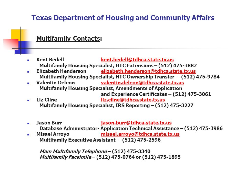Texas Department of Housing and Community Affairs