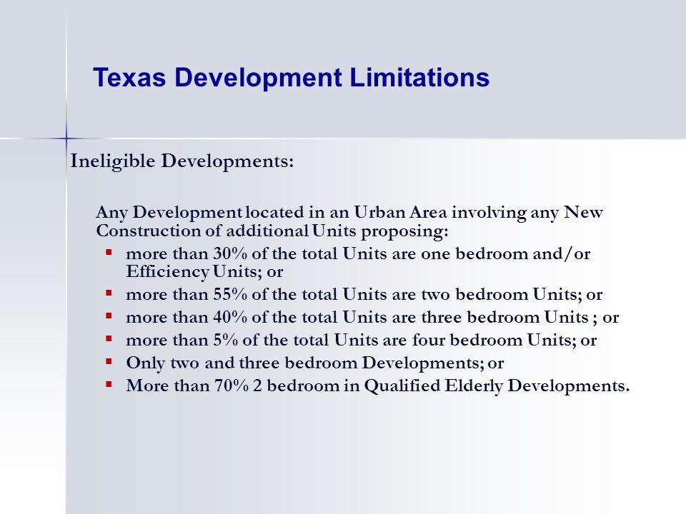 Texas Development Limitations