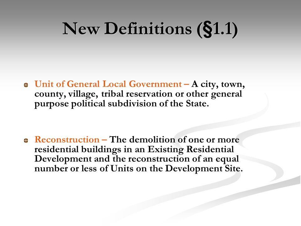 New Definitions (§49.3)
