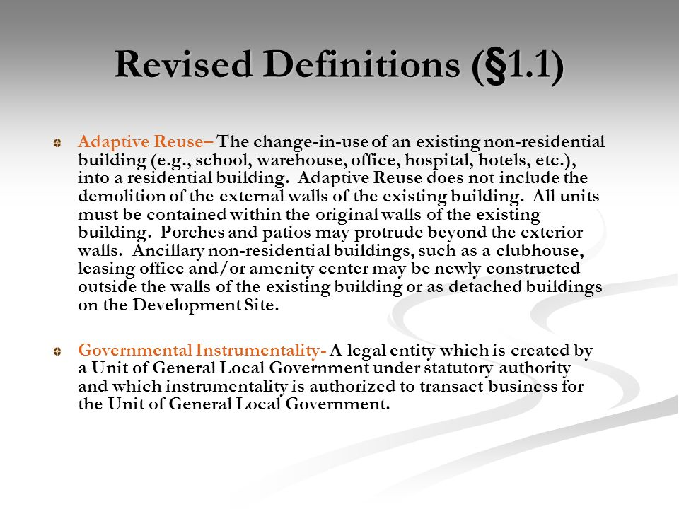 New Definitions (§1.1)