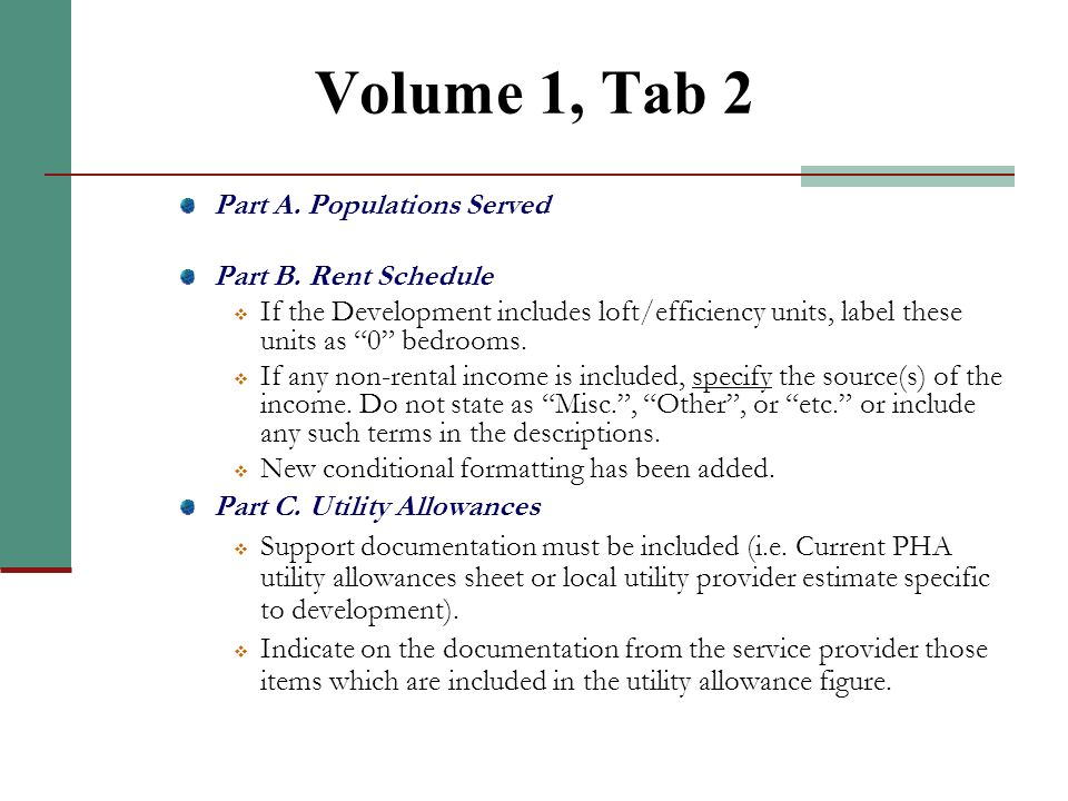 Volume 1, Tab 1 Part A & B. Activity Overview & Applicant Information