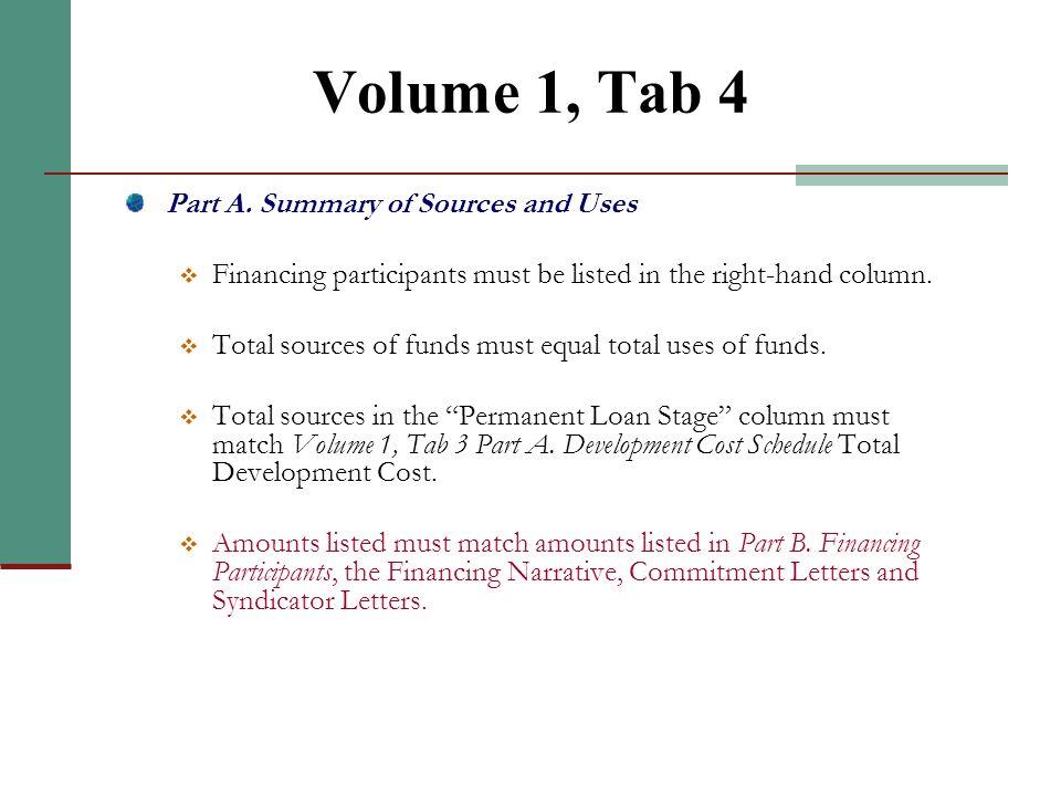 Volume 1, Tab 3 (continued)