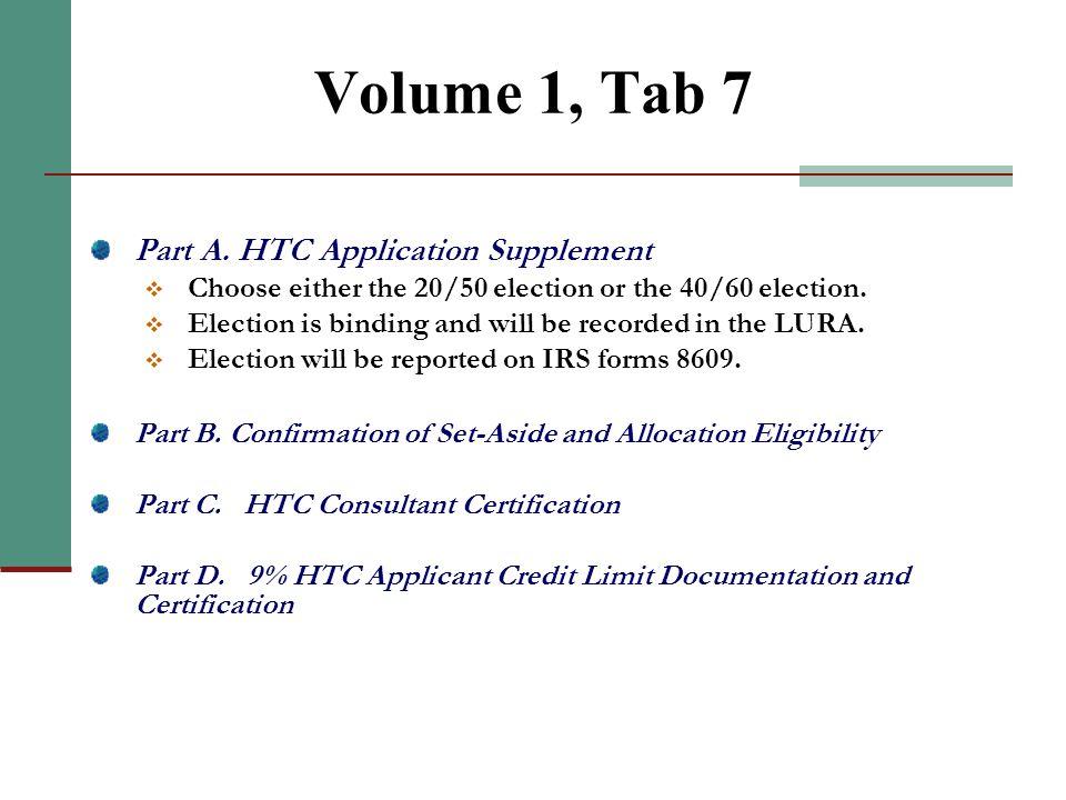 Volume 1, Tab 5 (continued)