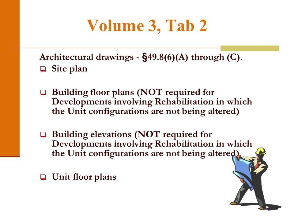 Volume 3, Tab 1
