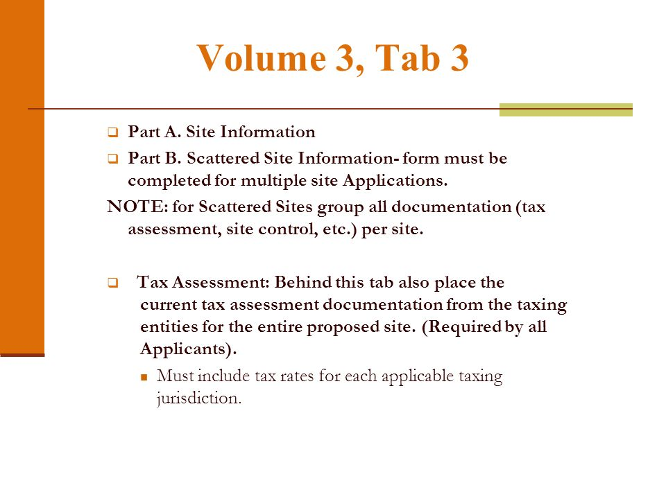 Volume 3, Tab 2 Architectural drawings - §49.8(6)(A) through (C).