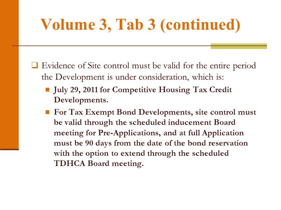 Volume 3, Tab 3 Part A. Site Information