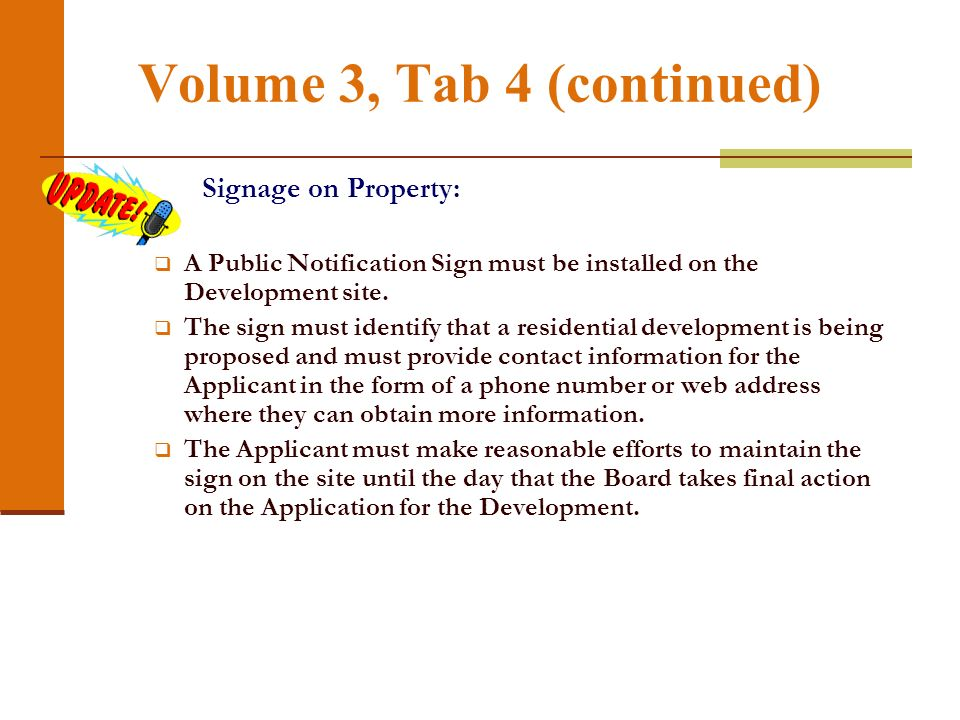 Volume 3, Tab 4 (continued)