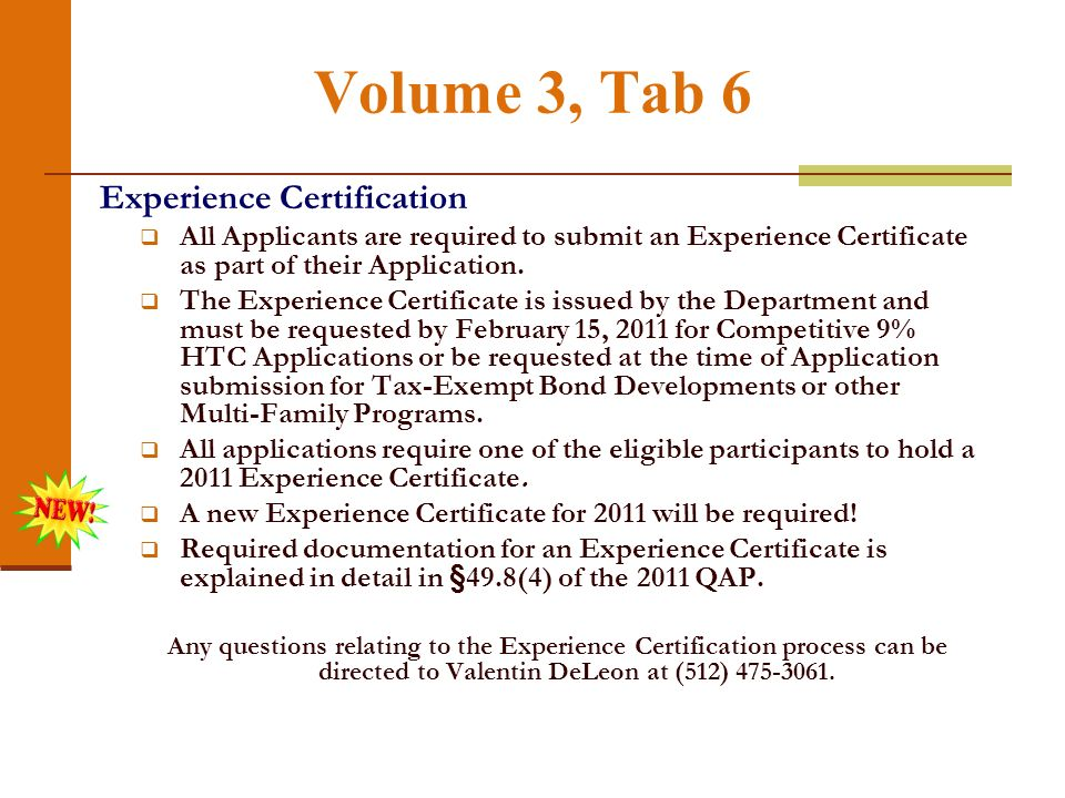Volume 3, Tab 5 Organizational Documentation: