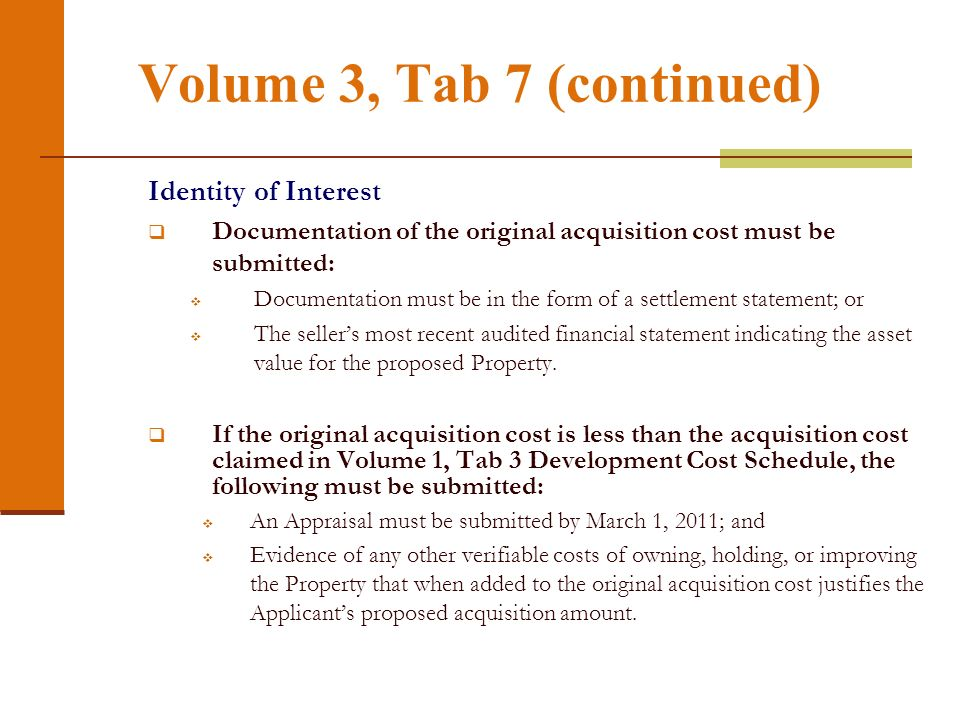 Volume 3, Tab 7 (continued)