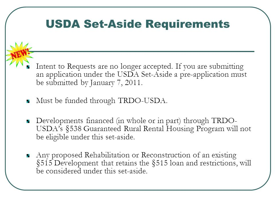 At-Risk Set-Aside Requirements