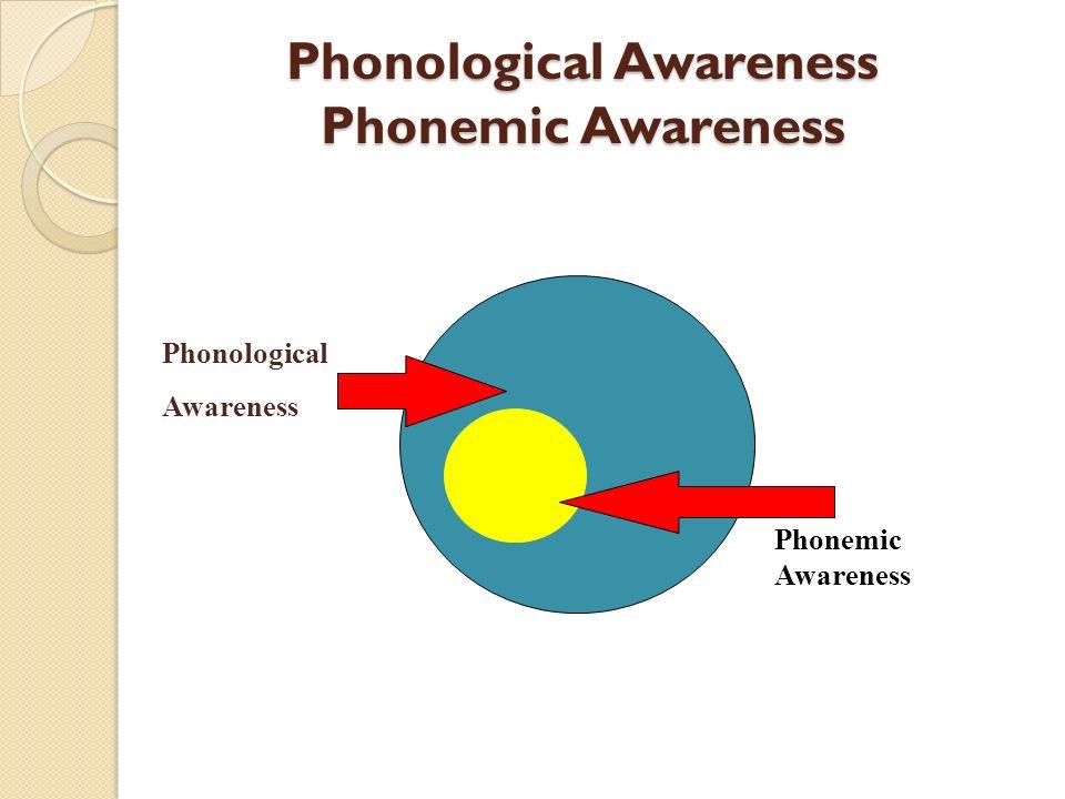 Phonological Awareness Phonemic Awareness