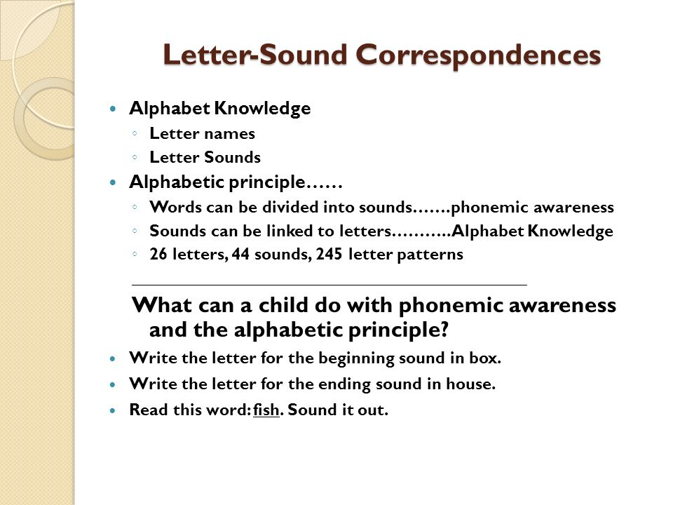 Letter-Sound Correspondences