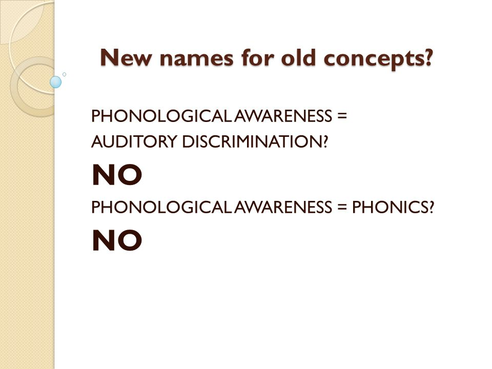 New names for old concepts