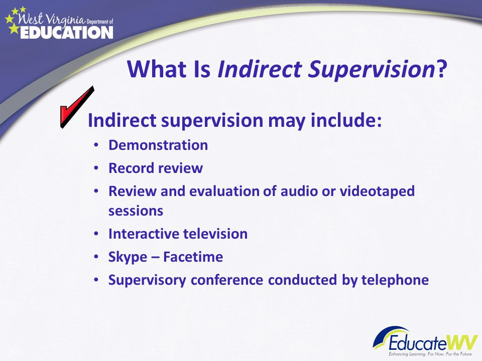 What Is Indirect Supervision
