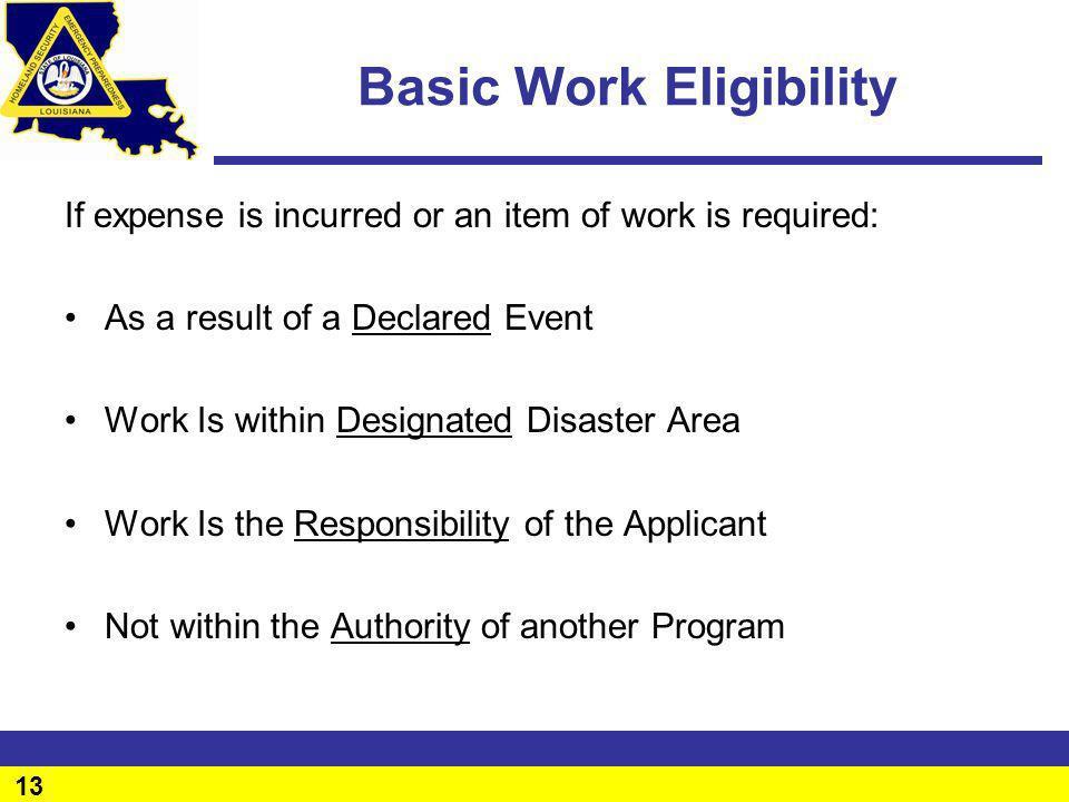Basic Work Eligibility