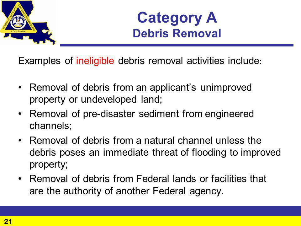 Category A Debris Removal