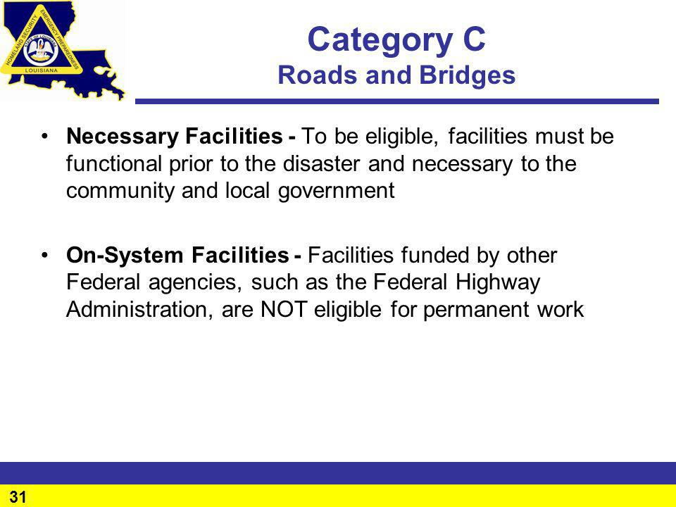 Category C Roads and Bridges