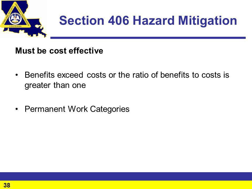 Section 406 Hazard Mitigation