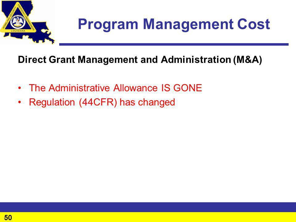 Program Management Cost