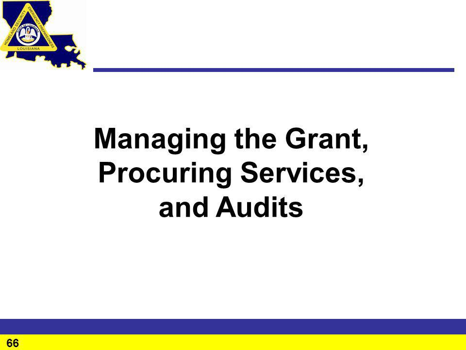 Procuring Services, and Audits