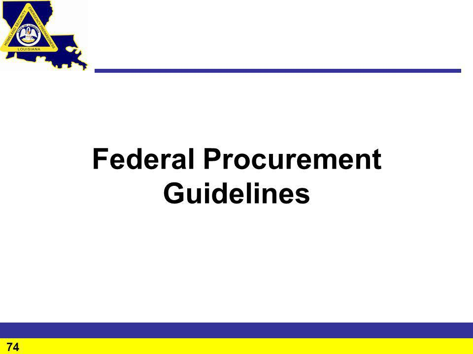 Federal Procurement Guidelines