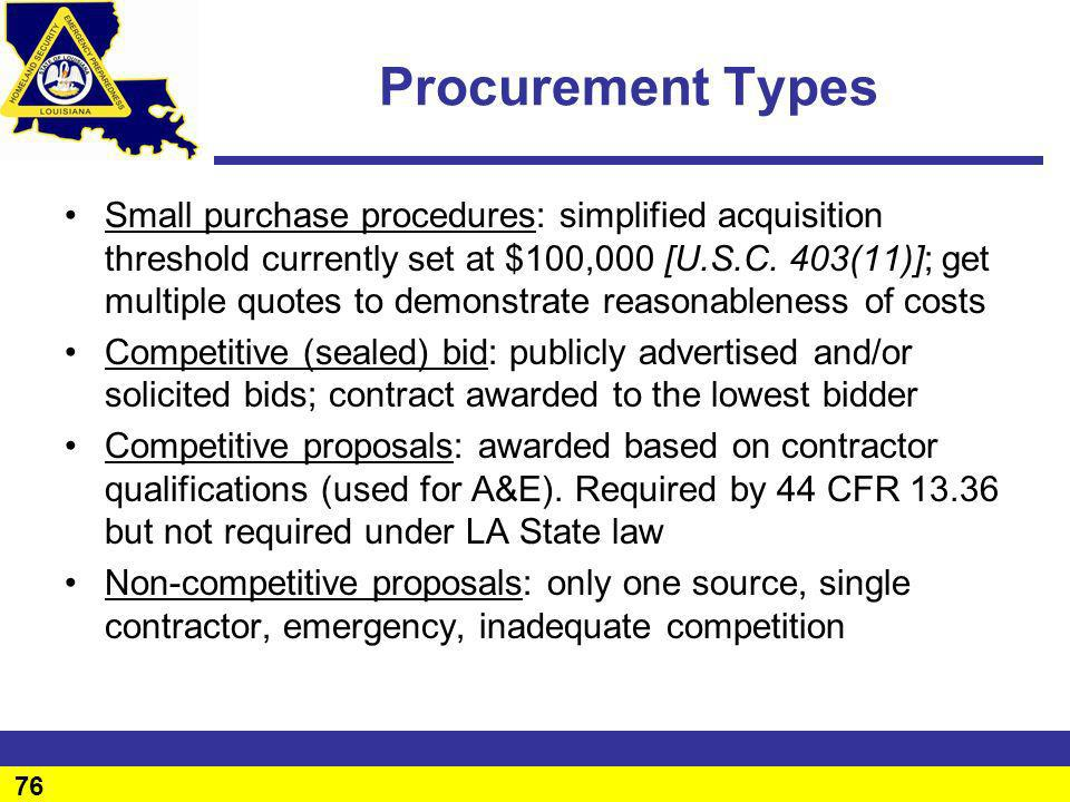 Procurement Types