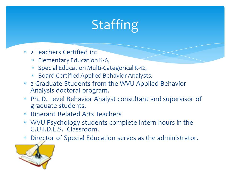Staffing 2 Teachers Certified in: