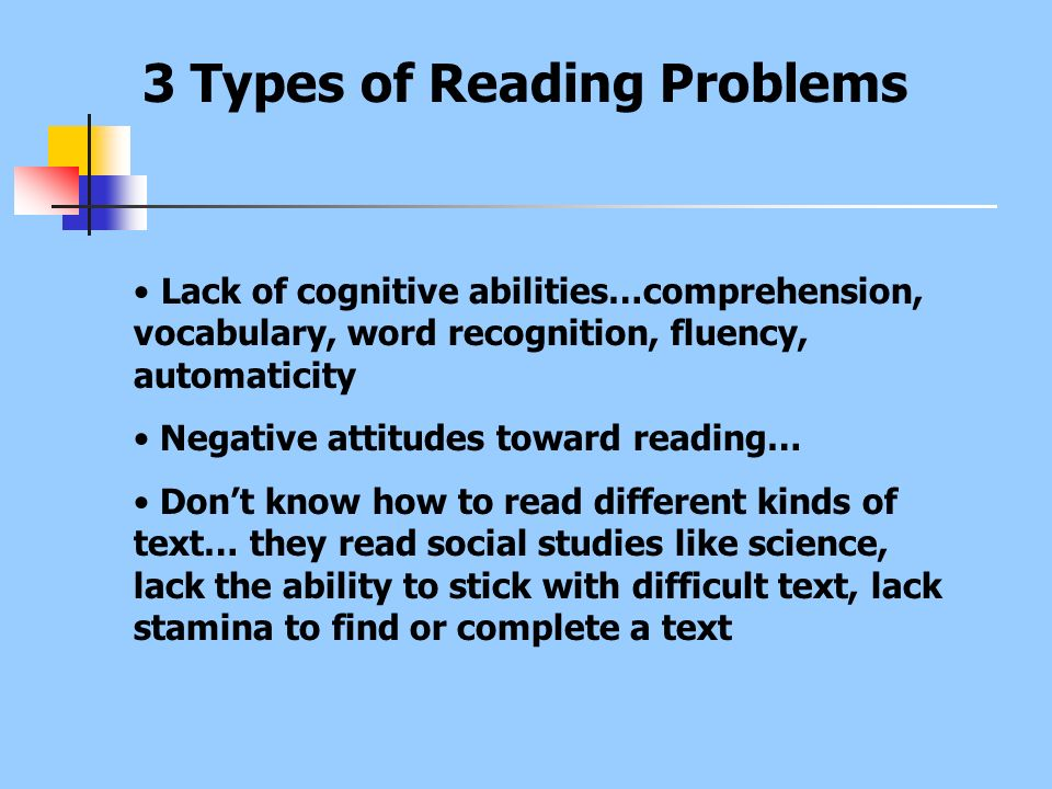 3 Types of Reading Problems