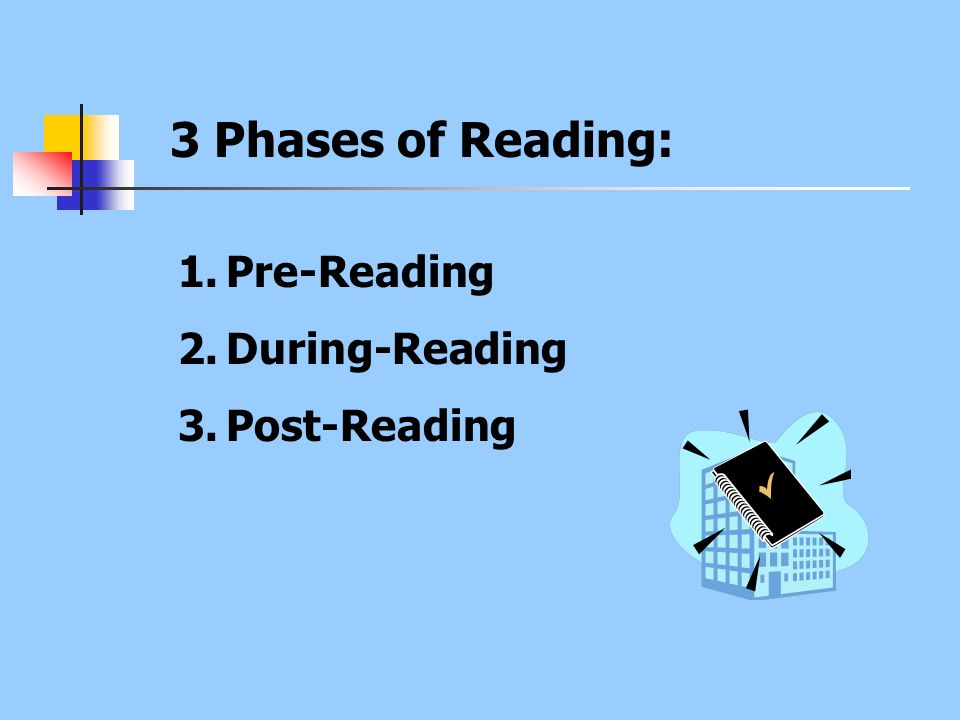3 Phases of Reading: Pre-Reading During-Reading Post-Reading