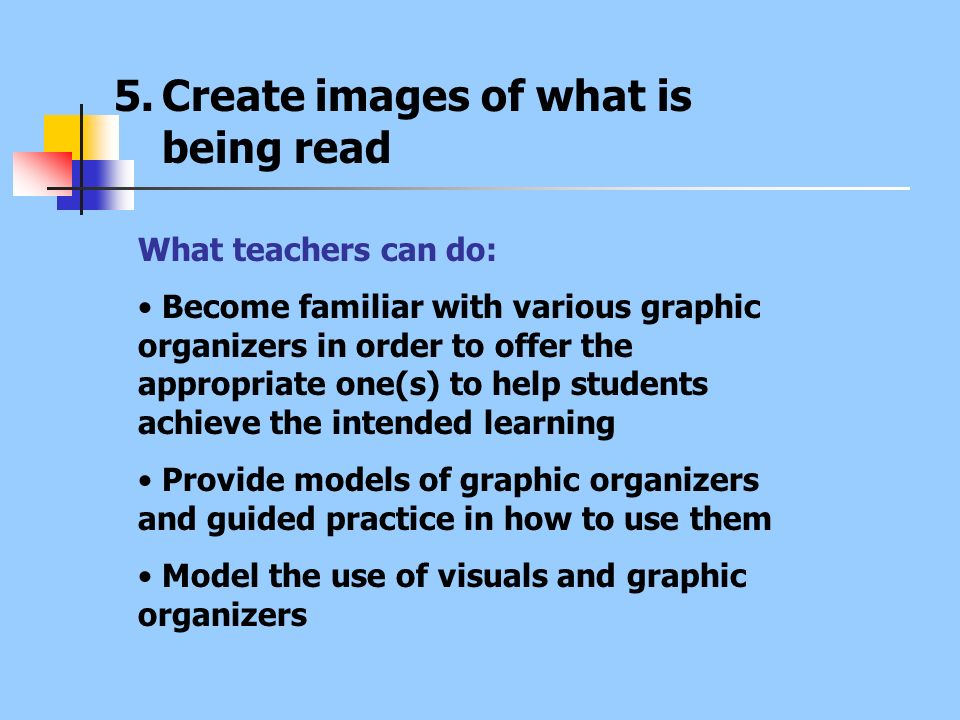 Create images of what is being read