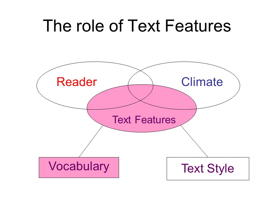 The role of Text Features