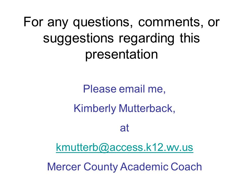 Mercer County Academic Coach