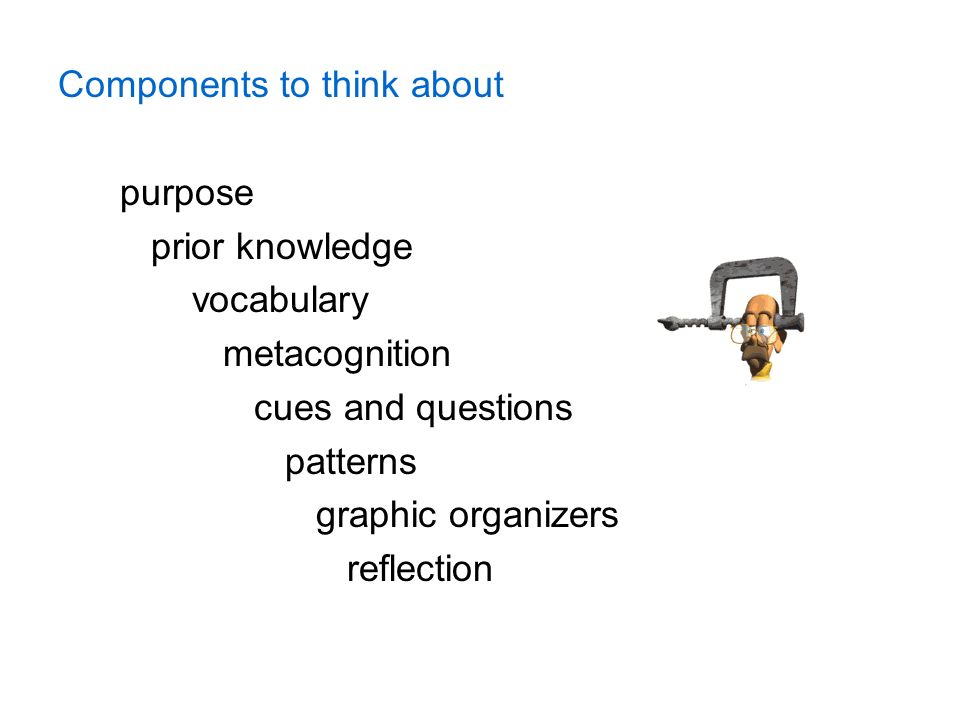 Components to think about