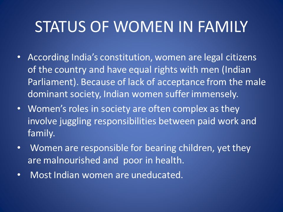 status of women in india Document directory database online status and fertility of women in rural india status and fertility of women in rural india - in this site is not the similar as a.