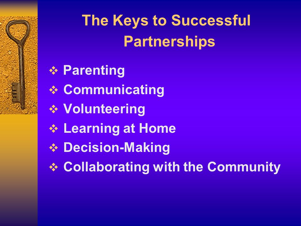 The Keys to Successful Partnerships