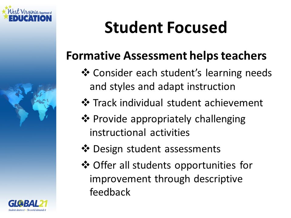 Student Focused Formative Assessment helps teachers