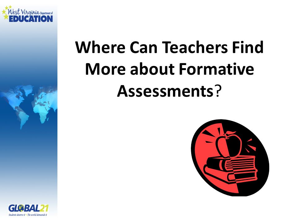 Where Can Teachers Find More about Formative Assessments