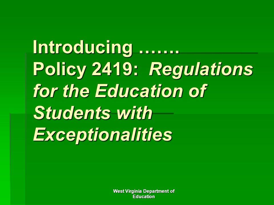 West Virginia Department of Education