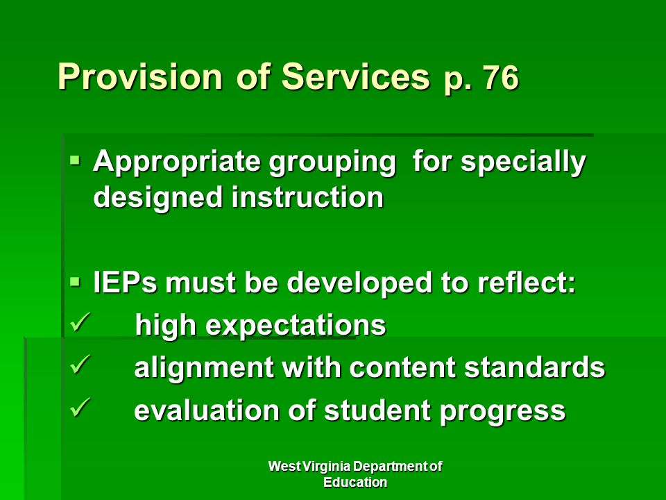 Provision of Services p. 76