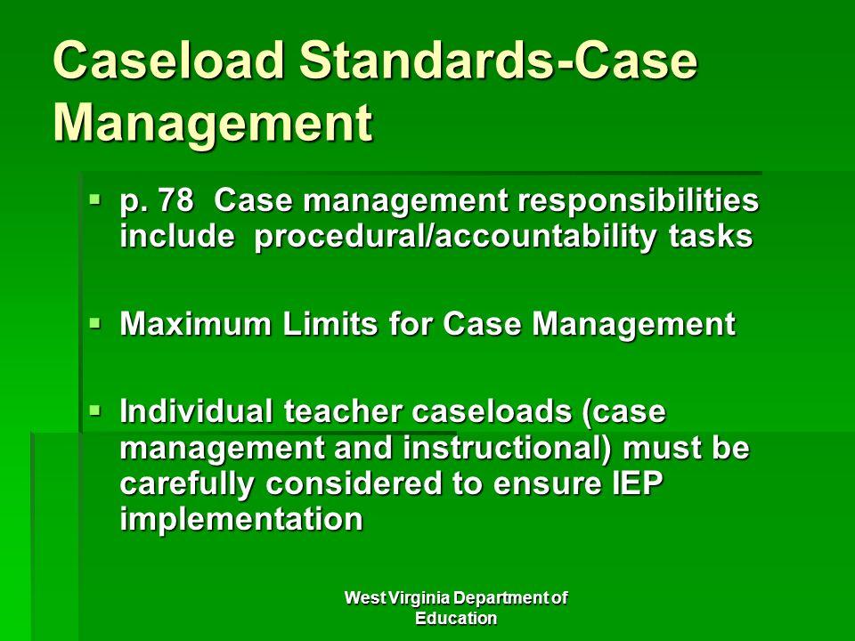 Caseload Standards-Case Management