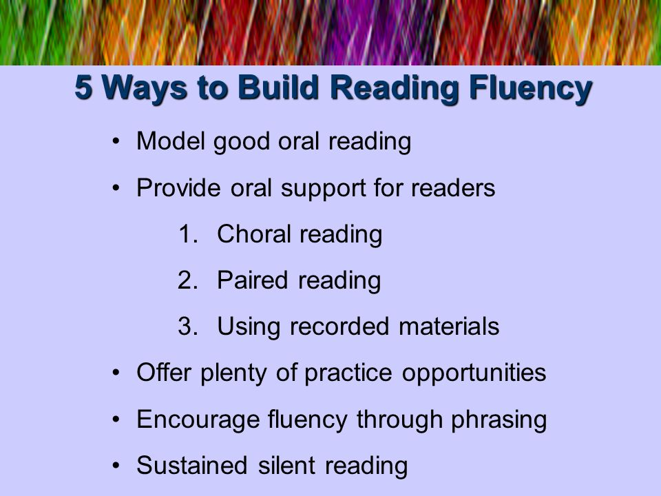 5 Ways to Build Reading Fluency