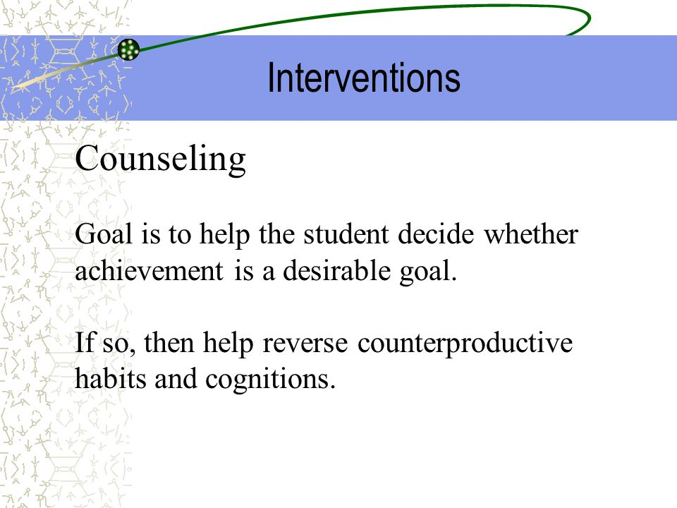 Interventions Counseling
