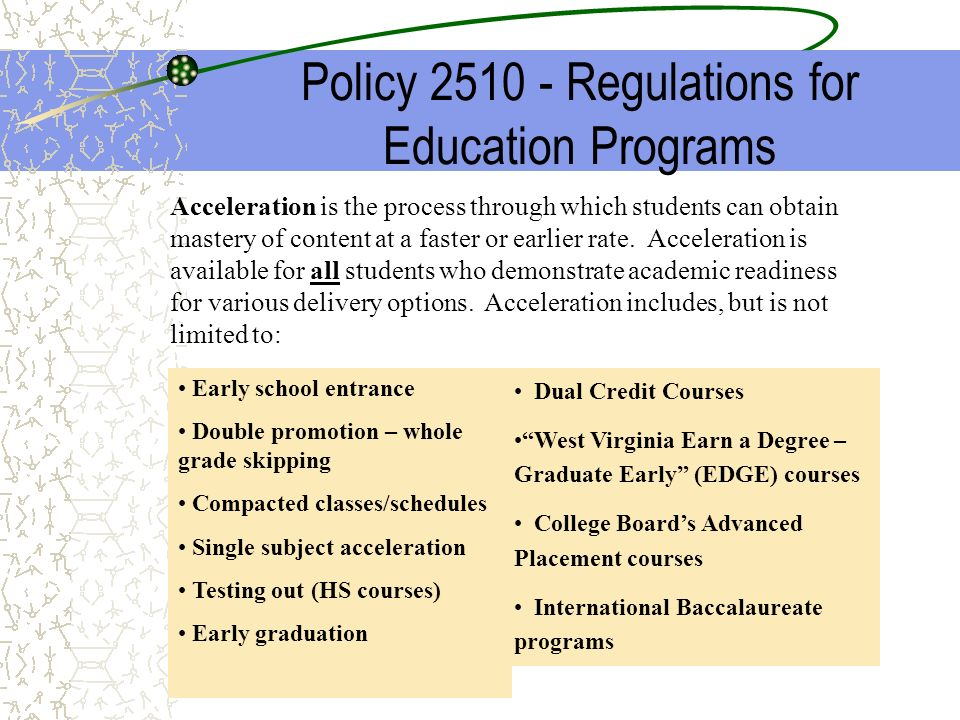 Policy 2510 - Regulations for Education Programs